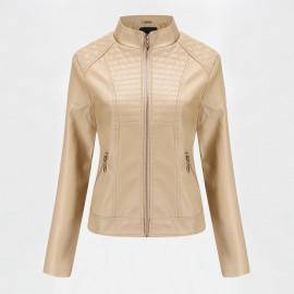 Приталенная кожаная куртка женская KR002-1