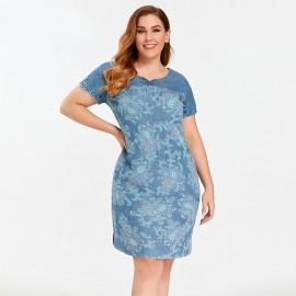 Джинсовое платье больших размеров MN54