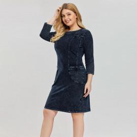 Джинсовое платье больших размеров MN51