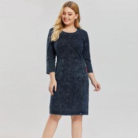 Джинсовое платье больших размеров MN50