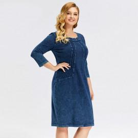 Джинсовое платье больших размеров MN49