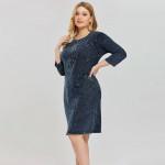 Джинсовое платье больших размеров MN48