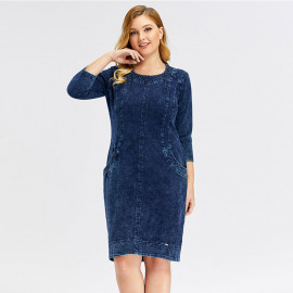 Джинсовое платье больших размеров MN47