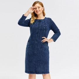 Джинсовое платье больших размеров MN46