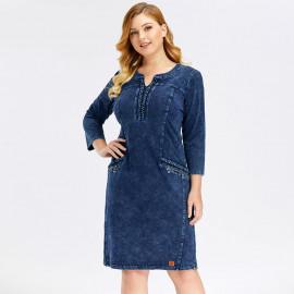 Джинсовое платье больших размеров MN45