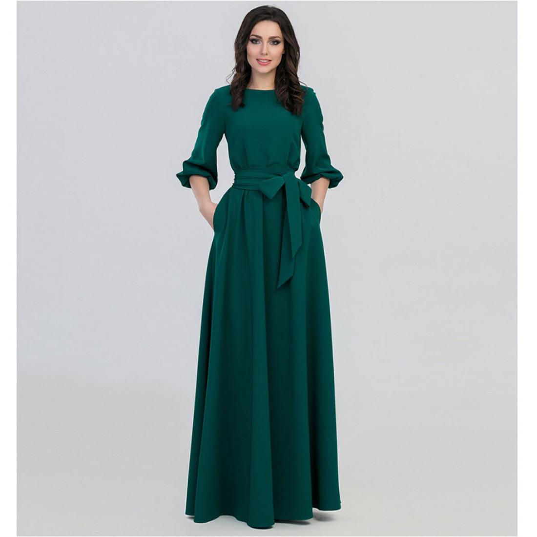 Платье Зеленое Закрытое