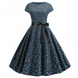 Летнее платье в мелкий цветочек MN41-12