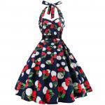 Платье в горошек в стиле ретро MN39-4