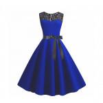 Женское синее платье MN38