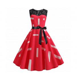 Женское летнее красное платье MN38-10