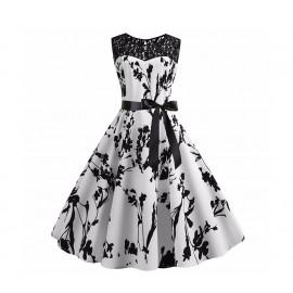 Винтажное белое платье с кружевами MN38-7