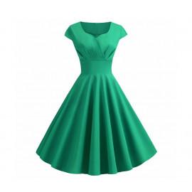 Зеленое винтажное платье MN36-5