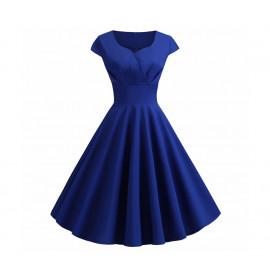 Винтажное синее платье MN36-3