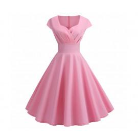 Винтажное розовое платье MN36-1