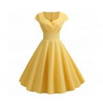 Женское желтое платье MN36-2