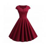 Женское бордовое платье MN36