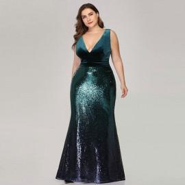 Платье большого размера с пайетками MN021-3