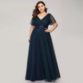 Нарядное платье в пол для пышной дамы MN020-14