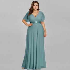 Длинное вечернее платье на полную фигуру MN020-13