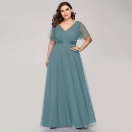 Нарядное платье в пол для полных женщин MN020