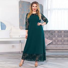 Вечернее платье с кружевами для полных MN018-1