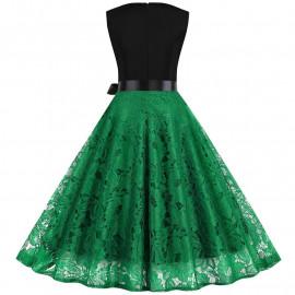 Летнее кружевное платье для полных MN015-3