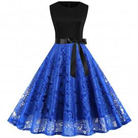 Летнее кружевное платье больших размеров MN015-2