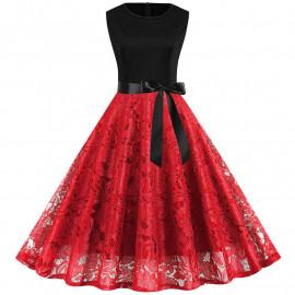 Кружевное женское платье больших размеров MN015-4