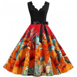 Летнее женское платье для полных женщин MN013-5