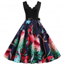 Летнее платье большого размера MN013-4