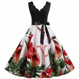 Летнее платье большого размера MN013-2