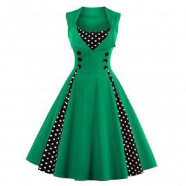 Зеленое платье ретро MN011-2