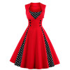 Красное женское платье в стиле ретро MN011