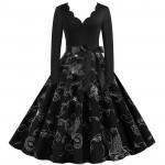 Черное платье в ретро стиле MN009-14