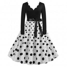 Ретро платье в горошек MN009-7