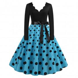 Ретро платье в горошек MN009-6