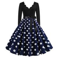 Ретро платье в горошек MN009-8