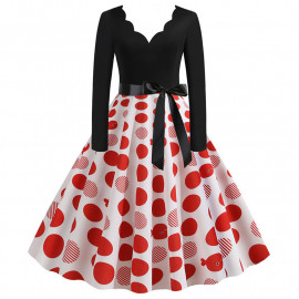 Ретро платье в крупный горох MN009-2