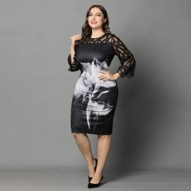 Вечернее платье на полную фигуру MN006