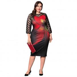 Вечернее платье для пышных женщин MN007
