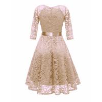 Бежевое кружевное платье MN35