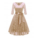 Кружевное женское платье MN35