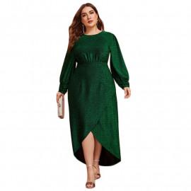 Зеленое вечернее платье больших размеров MN002