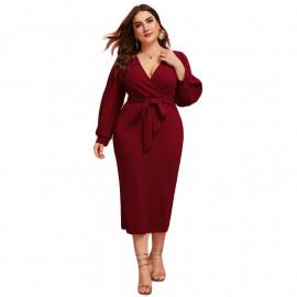 Приталенное платье больших размеров MN001