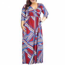 Женское летнее длинное платье больших размеров MN201-5