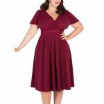 Платье на лето для полных женщин MN206-1