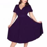 Летнее платье для пышных дам MN206-6