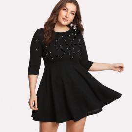 Короткое вечернее платье для полных MN72
