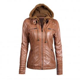 Куртка кожаная весна-осень женская KR001