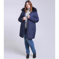 Женская зимняя куртка больших размеров ММ223